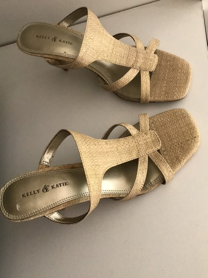 Kelly & Katie Tan/Gold Shimmer Sandals Image 9