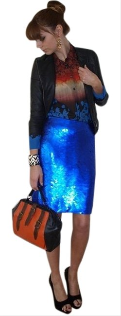 Preload https://img-static.tradesy.com/item/25838626/zara-blue-collection-sequin-skirt-size-8-m-29-30-0-1-650-650.jpg