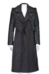 Altuzarra Quilted Faux Leather Leather Leather Sleeves Trench Coat