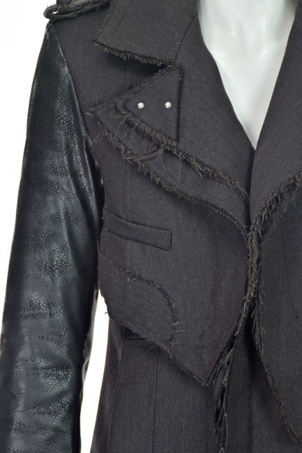 Altuzarra Quilted Faux Leather Leather Leather Sleeves Trench Coat Image 3
