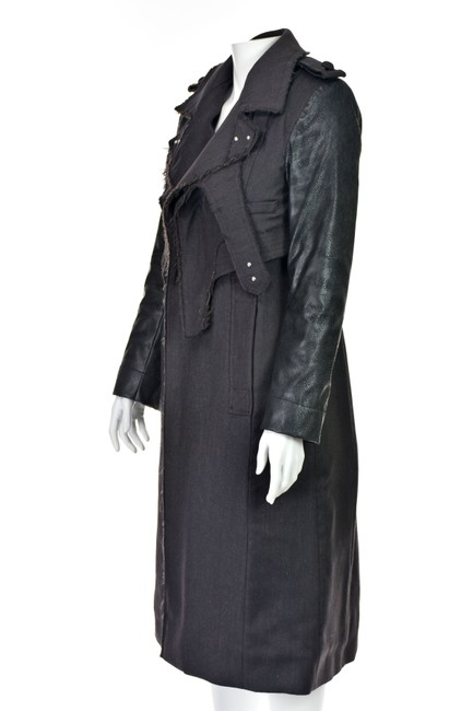 Altuzarra Quilted Faux Leather Leather Leather Sleeves Trench Coat Image 4