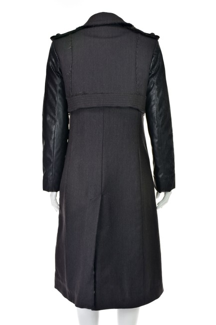 Altuzarra Quilted Faux Leather Leather Leather Sleeves Trench Coat Image 5