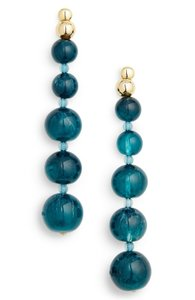 Cult Gaia Cult Gaia Kai Azure Blue Acrylic Graduated Orb Gold Statement Drop Ear