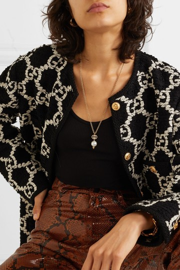 Gucci Gold-plated, crystal and faux pearl necklace Image 1