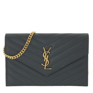 Saint Laurent Monogram Envelope Wallet On Chain Chain Envelope Envelope Wallet Chain Wallet Cross Body Bag