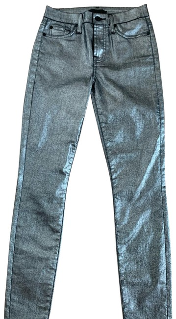 Item - Silver Coated Skinny Jeans Size 0 (XS, 25)