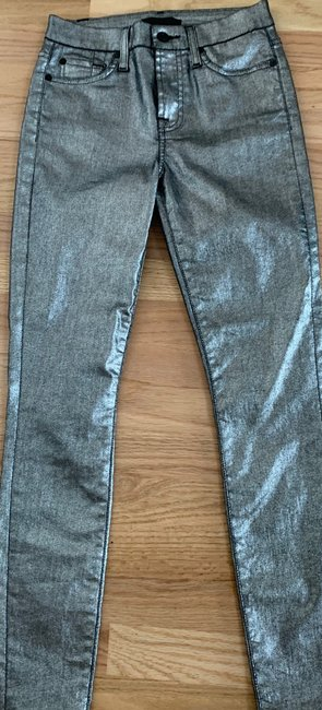 7 For All Mankind Skinny Jeans-Coated Image 1