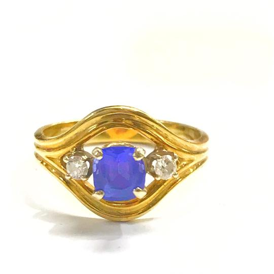 Preload https://img-static.tradesy.com/item/25838861/genuine-estate-collection-18-karat-yellow-gold-diamond-and-blue-sapphire-ring-0-0-540-540.jpg