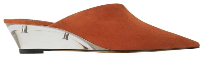 Item - Rust Leather Mini Wedges with Methacrylate Heel Flats Size US 6 Regular (M, B)