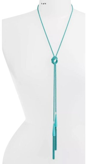 Preload https://img-static.tradesy.com/item/25838869/kendra-scott-blue-phara-aqua-matte-lariat-tassel-necklace-0-1-540-540.jpg