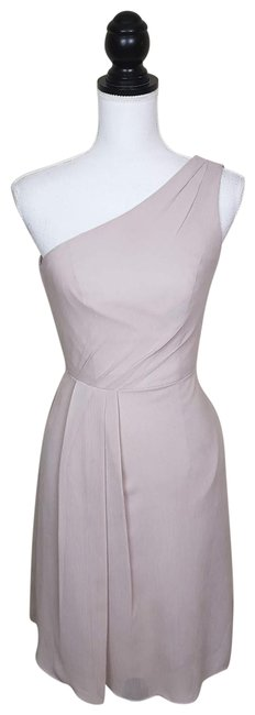 David's Bridal Bridesmaid Wedding Oneshoulder Dress Image 0
