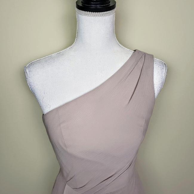 David's Bridal Bridesmaid Wedding Oneshoulder Dress Image 4