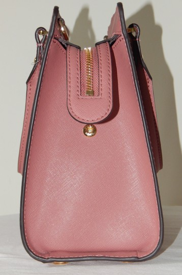 Michael Kors Saffiano Leather Satchel in Rose Image 5