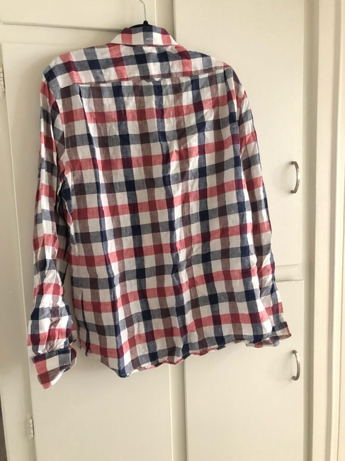 Vince Button Down Shirt red white blue Image 2