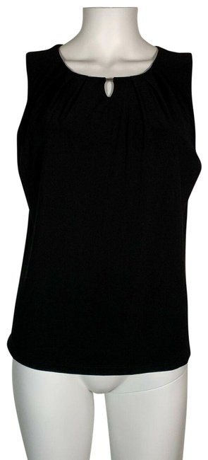 Preload https://img-static.tradesy.com/item/25838938/kasper-black-sleeveless-keyhole-new-blouse-size-22-plus-2x-0-1-650-650.jpg