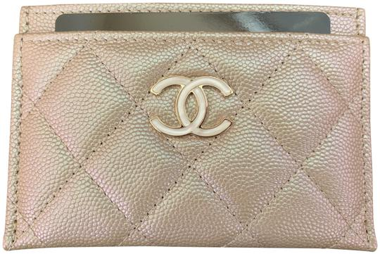 Preload https://img-static.tradesy.com/item/25839022/chanel-beige-iridescent-quilted-leather-card-holder-wallet-0-2-540-540.jpg