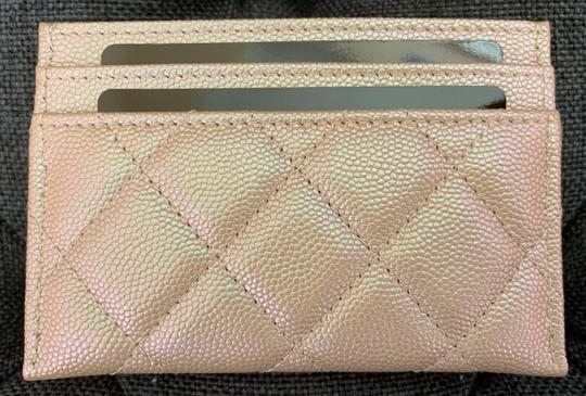 Chanel Beige Iridescent Quilted Leather Card Holder Image 1