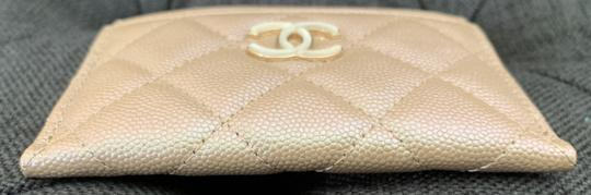 Chanel Beige Iridescent Quilted Leather Card Holder Image 5