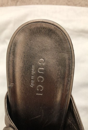 Gucci metallic bronze with gold logo Formal Image 2