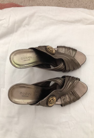 Gucci metallic bronze with gold logo Formal Image 3