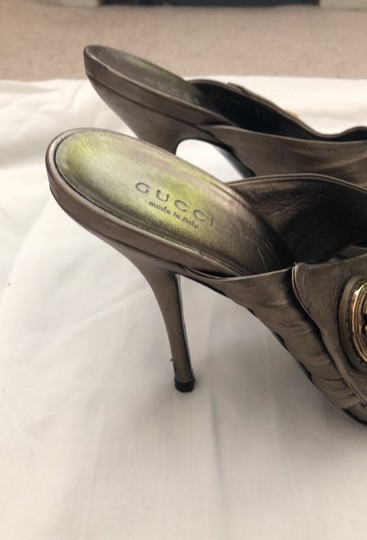 Gucci metallic bronze with gold logo Formal Image 4