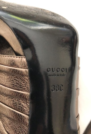 Gucci metallic bronze with gold logo Formal Image 6