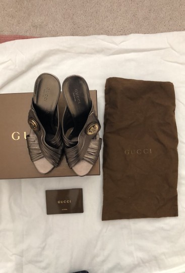 Gucci metallic bronze with gold logo Formal Image 8