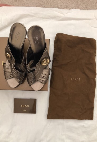 Gucci metallic bronze with gold logo Formal Image 9