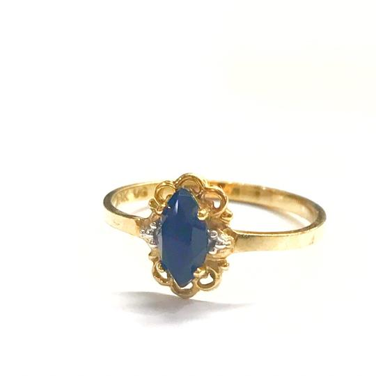 Preload https://img-static.tradesy.com/item/25839024/genuine-estate-collection-10-karat-yellow-gold-and-blue-sapphire-ring-0-0-540-540.jpg
