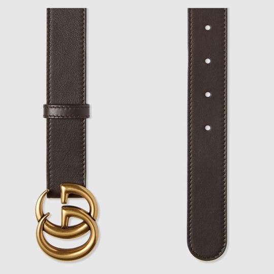 Gucci Brown Leather Double G Belt size 75, 3cm wide Image 1