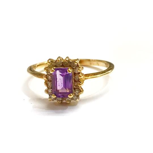 Preload https://img-static.tradesy.com/item/25839097/genuine-estate-collection-10-karat-yellow-gold-amethyst-and-diamond-ring-0-0-540-540.jpg