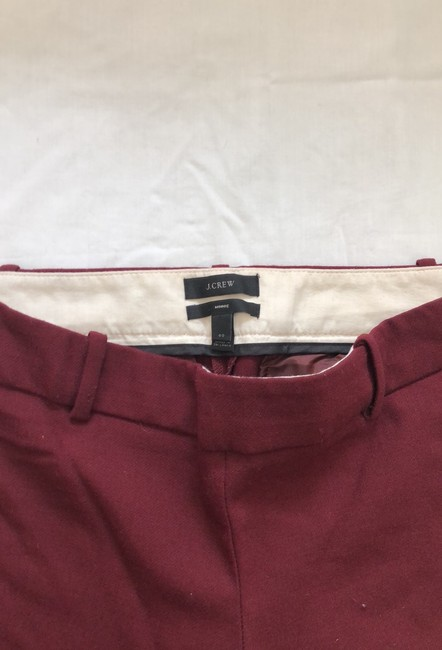J.Crew Trouser Pants Burgundy Image 6