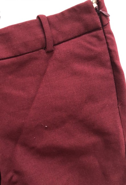 J.Crew Trouser Pants Burgundy Image 8