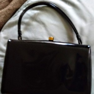Coblentz Tote in Black Patent Bag