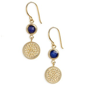Anna Beck Anna Beck 18K & Silver Round-Cut Lapis Earrings