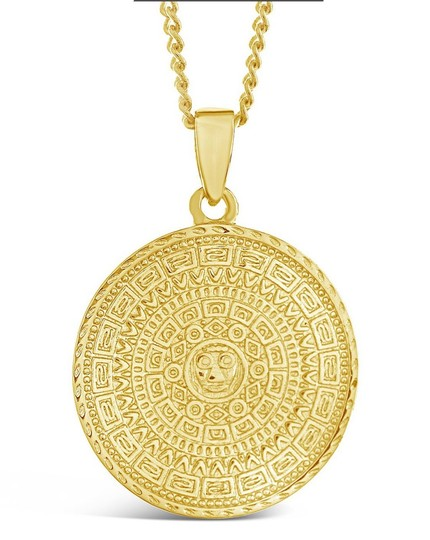 Sterling Forever Sterling Forever 14K Plated Disc Layered Necklace Image 3