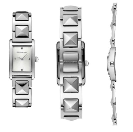 Rebecca Minkoff Moment Silver Tone Bracelet Watch, 19MM Silver Image 0