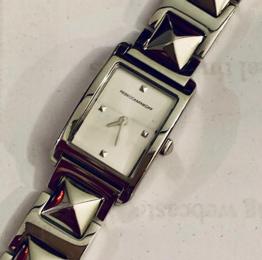 Rebecca Minkoff Moment Silver Tone Bracelet Watch, 19MM Silver Image 2