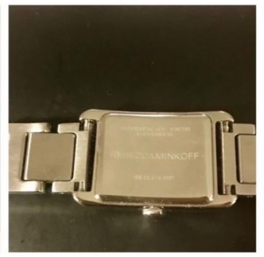 Rebecca Minkoff Moment Silver Tone Bracelet Watch, 19MM Silver Image 5