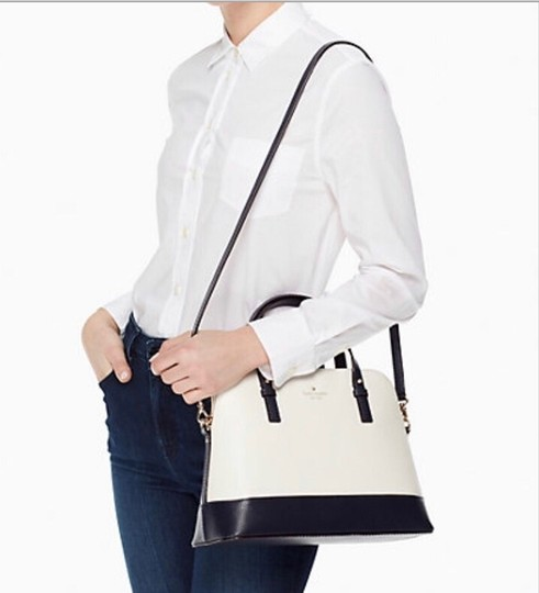 Kate Spade Two-tone Tote Blue & Crossbody Satchel in Navy Cement Cream Ivory White Image 10