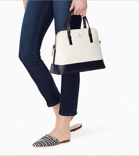 Kate Spade Two-tone Tote Blue & Crossbody Satchel in Navy Cement Cream Ivory White Image 2