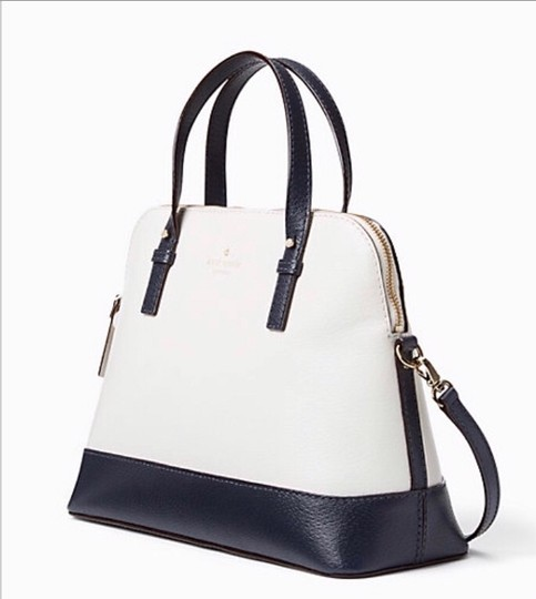 Kate Spade Two-tone Tote Blue & Crossbody Satchel in Navy Cement Cream Ivory White Image 4