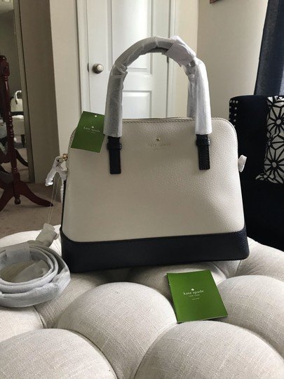 Kate Spade Two-tone Tote Blue & Crossbody Satchel in Navy Cement Cream Ivory White Image 6