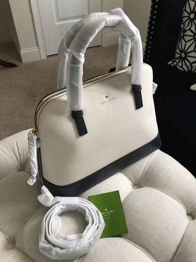 Kate Spade Two-tone Tote Blue & Crossbody Satchel in Navy Cement Cream Ivory White Image 7