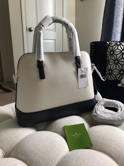 Kate Spade Two-tone Tote Blue & Crossbody Satchel in Navy Cement Cream Ivory White Image 8