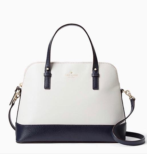 Kate Spade Two-tone Tote Blue & Crossbody Satchel in Navy Cement Cream Ivory White Image 9