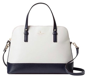 Kate Spade Two-tone Tote Blue & Crossbody Satchel in Navy Cement Cream Ivory White