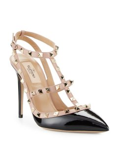Valentino Patent Studs Rockstuds Patent Leather Classics Black Pumps