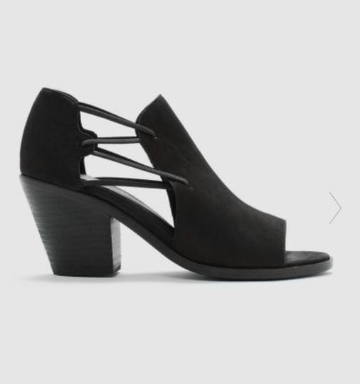 Eileen Fisher Crossover Peep Toe Black Boots Image 1