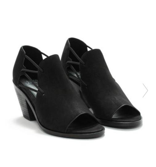 Eileen Fisher Crossover Peep Toe Black Boots Image 5